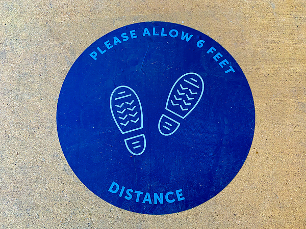 Social distancing sign Photograph by Patricia Marroquin