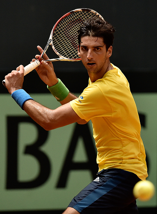 Spain v Brazil - Davis Cup World Group Play-Offs: Day 1 Photograph by Buda Mendes