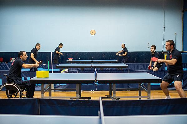 Sport hall for table tennis Photograph by Miodrag Ignjatovic