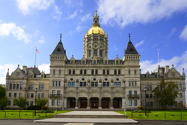Statehouse, Hartford Photograph by Dennis Macdonald