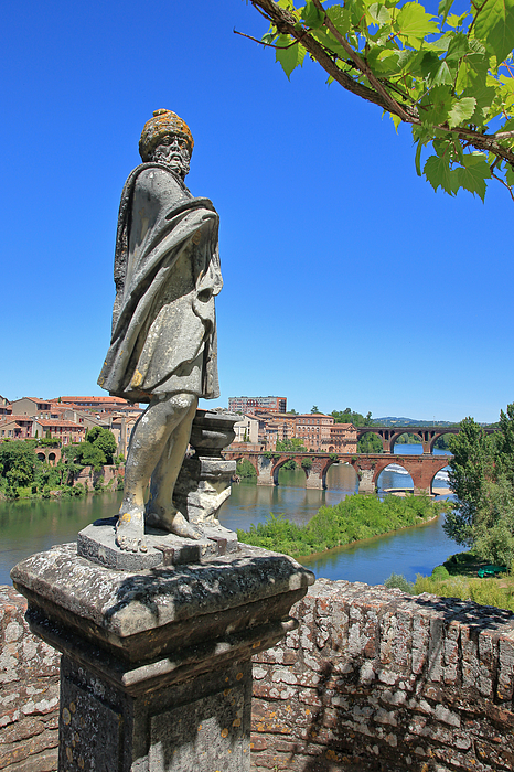 Statue in the formal gardens of the Palais de Berbie in Albi, France. Photograph by David Forman
