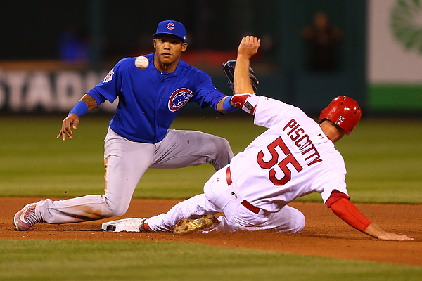 Stephen Piscotty And Addison Russell Photograph by Dilip Vishwanat