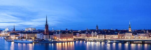 Stockholm Panorama Photograph by Wolfgang Wörndl