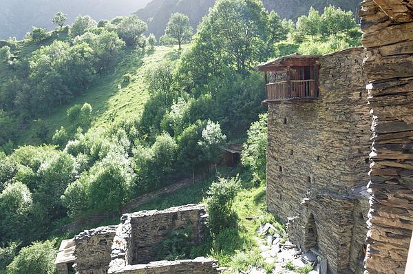 Stone walls of the old houses of Shatili, Khevsureti, Georgia Photograph by Vyacheslav Argenberg