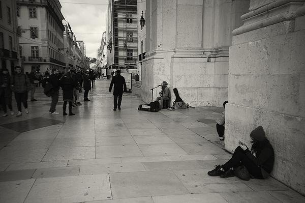Street Musician in Lisbon Photograph by Zulufriend