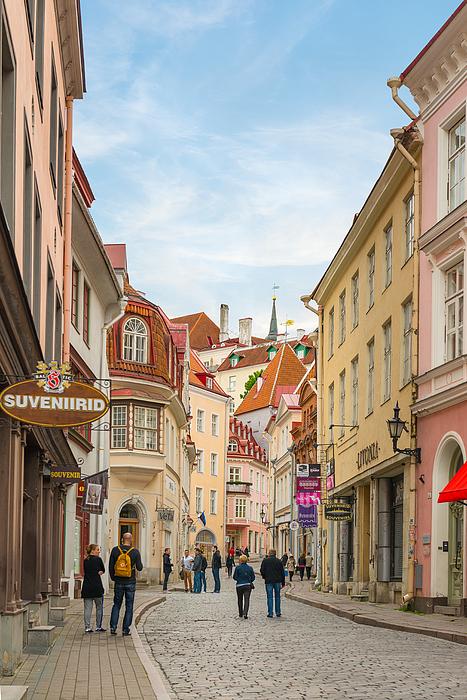 Street View Of Tallinn, Estonia Photograph by Syolacan