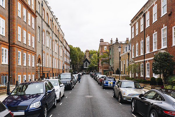 Street With Parked Cars In Kensington And Chelsea District, London, England, Uk Photograph by Alexander Spatari