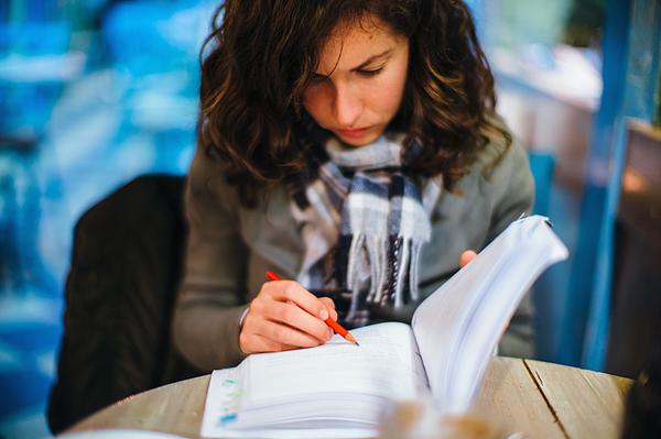 Stylish woman studying Photograph by Photo by Rafa Elias