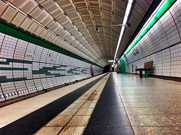 Subway Platform Photograph by Michael Merkel / EyeEm