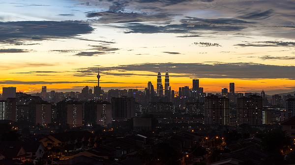 Sunset At Kuala Lumpur, Malaysia Photograph by Shaifulzamri