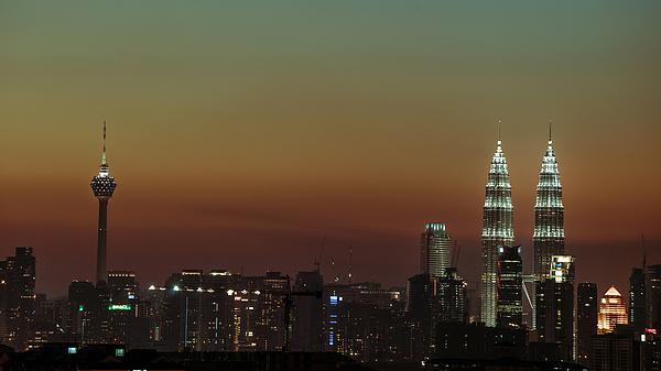 Sunset At Kuala Lumpur Photograph by Shaifulzamri