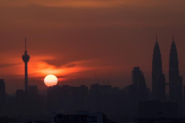 Sunset In Kuala Lumpur Photograph by Shaifulzamri