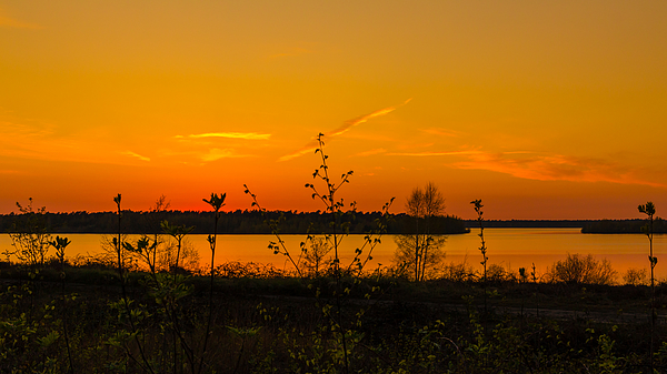 Sunset Lake View Photograph by William Mevissen