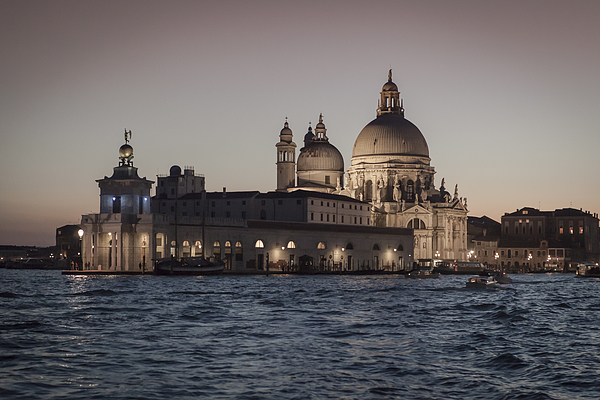 Sunset on the Gran Canal Photograph by Adriano Ficarelli