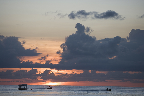 Sunset, West Coast, Barbados, West Indies, Caribbean, Central America Photograph by Neil Emmerson / robertharding