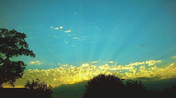 Sunset With God Rays Photograph by Aaron Carmichael / EyeEm