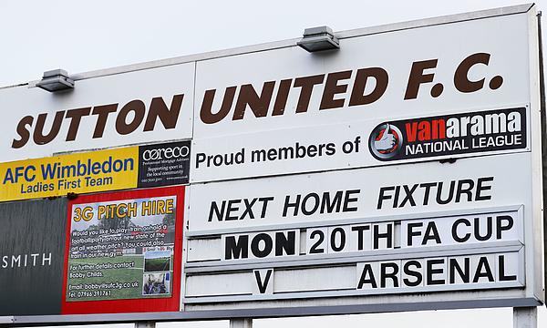 Sutton United Media Access Photograph by Ian Walton
