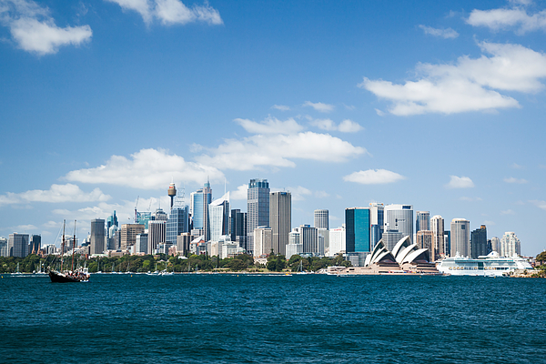 Sydney skyline with CBD and opera house in summer Photograph by Matteo Colombo