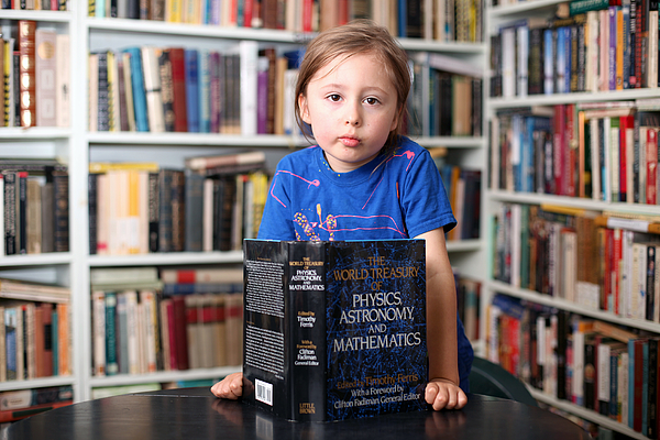 Telepathic Genius Child Tested By Scientist Photograph by Barcroft Media
