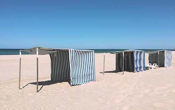 Tents At Beach Against Clear Sky Photograph by Paulien Tabak / EyeEm
