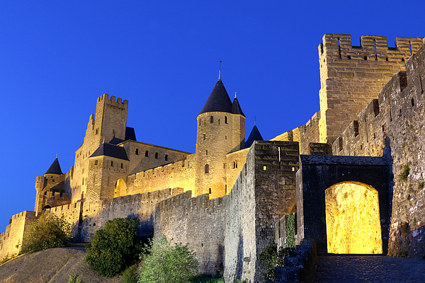 The Aude gate, Carcassonne, Languedoc-Roussillon, France Photograph by Frans Sellies