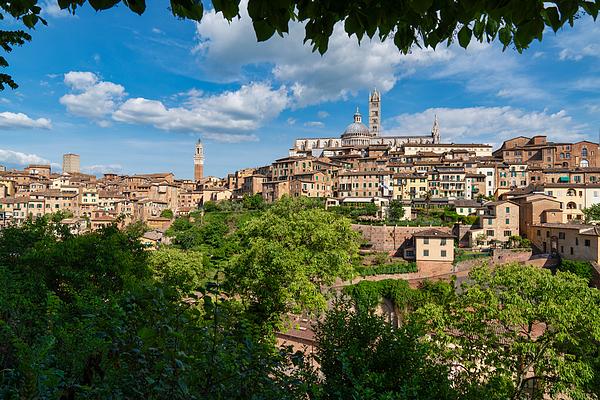 The beautiful city of Siena, Tuscany, Italy Photograph by Mauro Tandoi