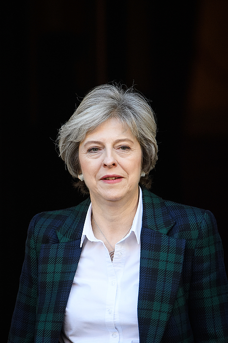 The British Prime Minister Delivers Her Brexit Speech Photograph by Leon Neal