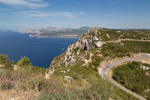 The coastline near Cassis Photograph by Martin Child
