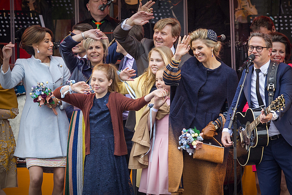 The Dutch Royal Family Attend Kings Day In Tilburg Photograph by Patrick van Katwijk