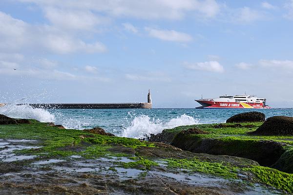 The Fast Ferry Ship Between Tarifa And Tanger Morocco Photograph by Finn Bjurvoll Hansen