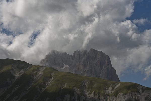 The Gran Sasso touches the clouds Photograph by Adriano Ficarelli