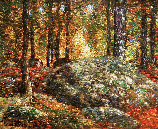 The Jewel Box Painting - The Jewel Box, Old Lyme - Digital Remastered Edition by Frederick Childe Hassam