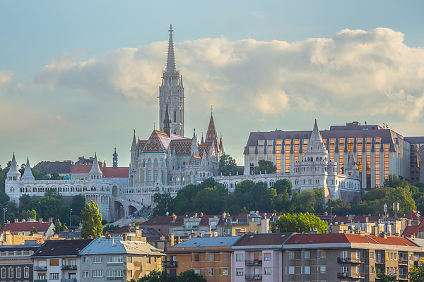 The Matthias Church And The Fishermens Bastion In Budapest, Hungary Photograph by Peter Zelei Images