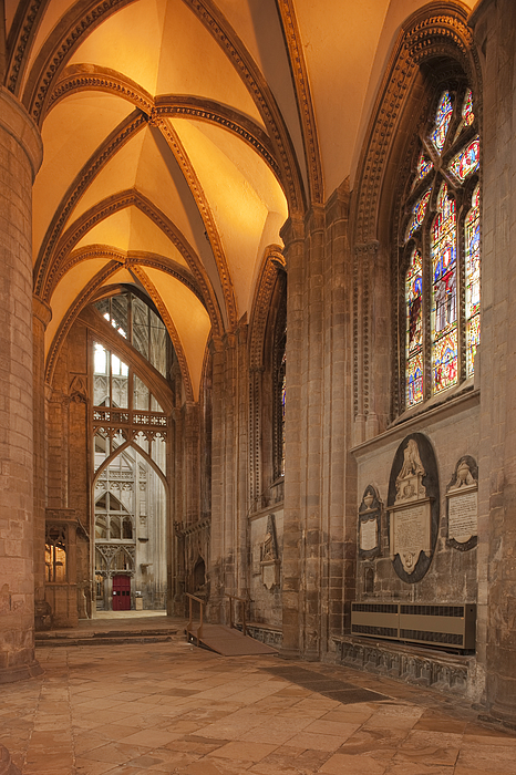 The nave inside Gloucester Cathedral, Gloucestershire Photograph by David Clapp