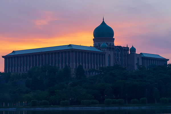 The Perdana Putra Is A Building In Putrajaya, Malaysia Which Houses The Office Complex Of The Prime Minister Of Malaysia. Photograph by Shaifulzamri
