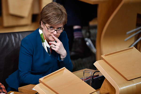 The Scottish Parliament Debates Brexit After Theresa Mays Speech Photograph by Jeff J Mitchell