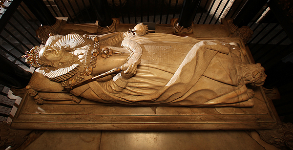 The Tomb Of Elizabeth I Is Prepared For The 450th Anniversary Photograph by Peter Macdiarmid