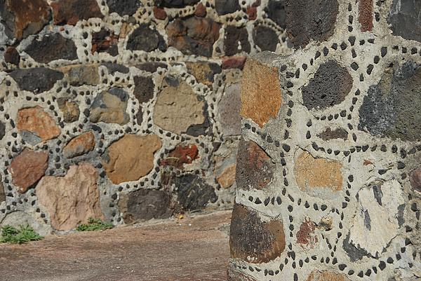The wall of At Pre-Hispanic City of Teotihuacan. Photograph by Photo by Kosei Saito