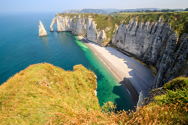 The white cliffs of Etretat, the alabaster coast Photograph by Frans Sellies