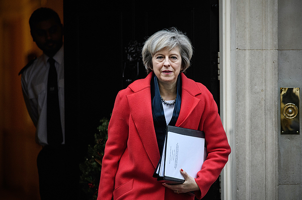 Theresa May Leaves Downing Street To Attend A Commons Liaison Committee Photograph by Carl Court