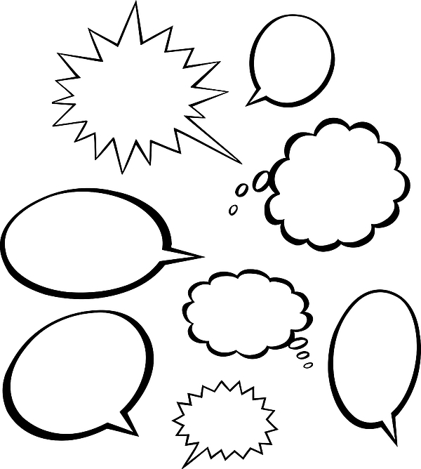 Thought & Word Balloons Drawing by Paul Gilligan