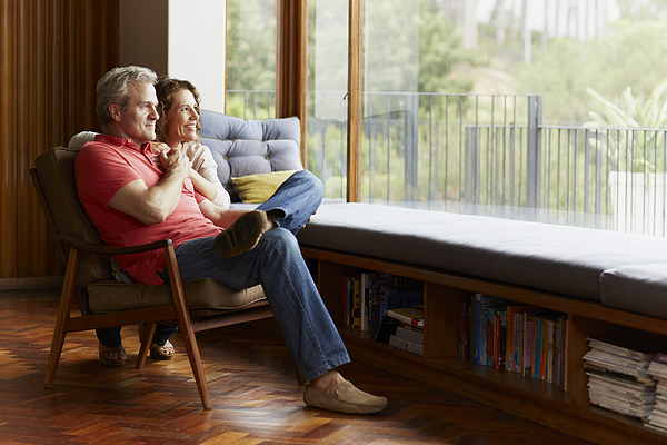Thoughtful Mature Couple At Home Photograph by Morsa Images