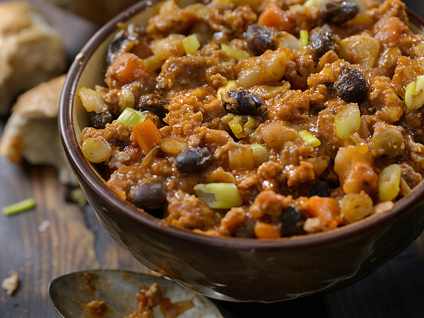 Three Bean Chili with Lentils Photograph by LauriPatterson