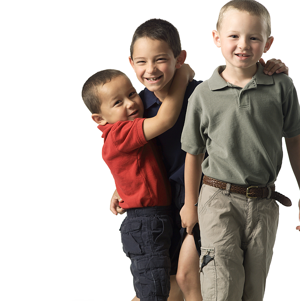 Three Caucasian Child Brothers Play Around With Each Other Photograph by Photodisc