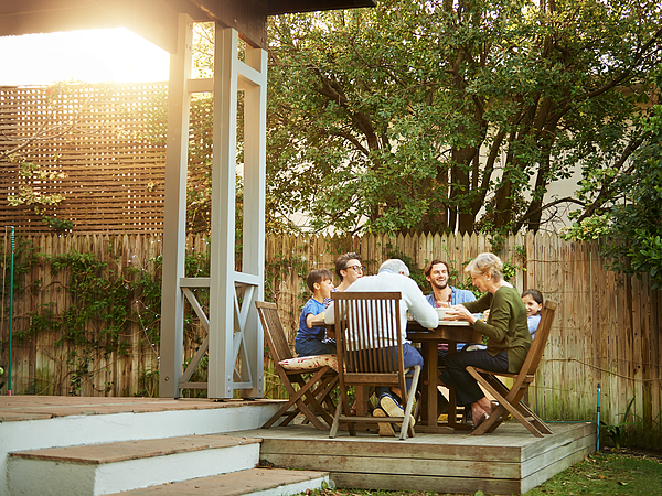 Three generations gathered at the table Photograph by AJ_Watt