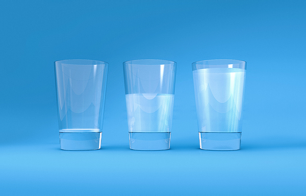 Three Glasses Of Water Photograph by Artpartner-images