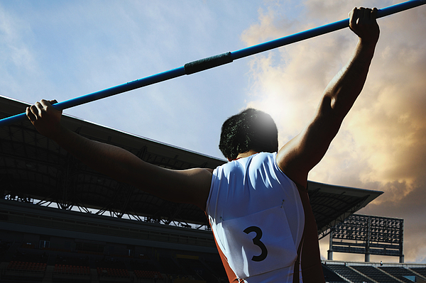 Thrower Preparing to Throw Javelin Photograph by Masakazu Watanabe/Aflo