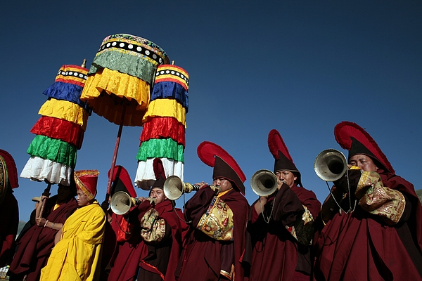 Tibetan Buddhists In Chinas Remote Qinghai Province Thrive Photograph by Paula Bronstein