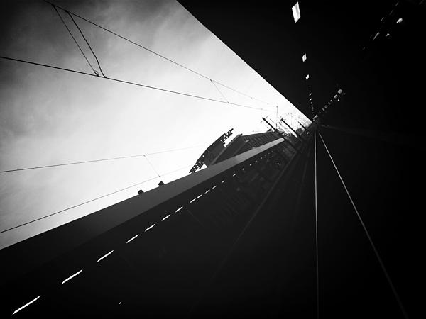 Tilt Image Of Railroad Station Against Sky Photograph by Roman Pretot / EyeEm