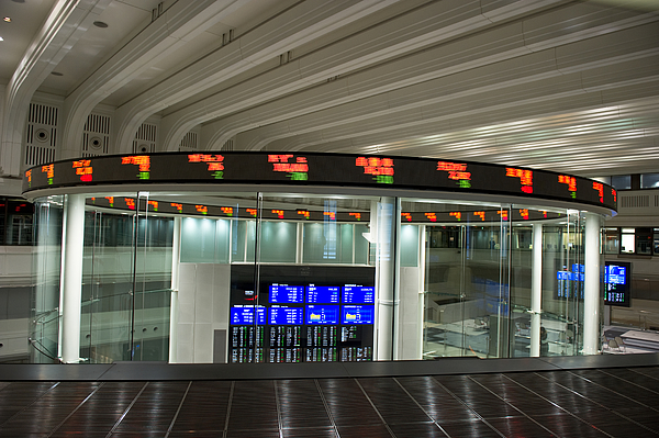 Tokyo Stock Exchange Photograph by Ryouchin